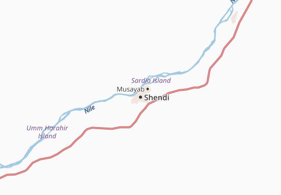 Detailed map of Shendi - Shendi map - ViaMichelin
