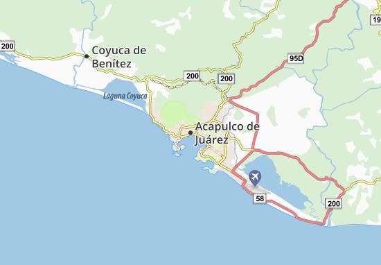 Carte-Plan Acapulco de Juárez