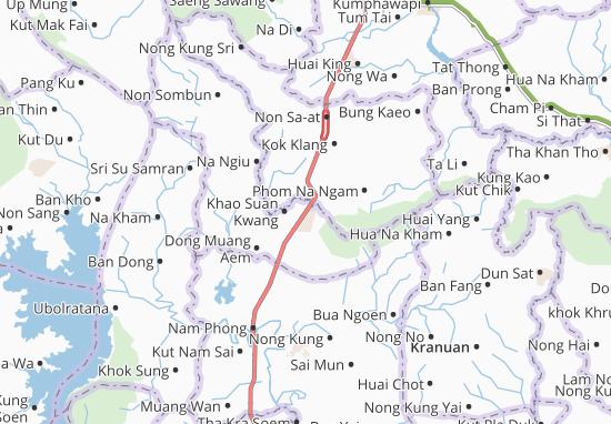 Khao Suan Kwang Map
