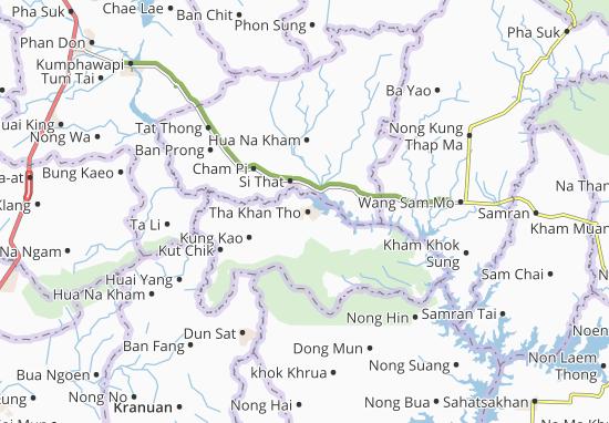 Kaart Plattegrond Tha Khan Tho