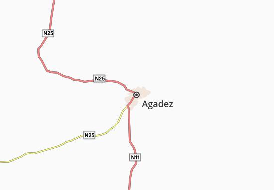 Carte-Plan Agadez
