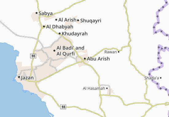 Abu Arish Map