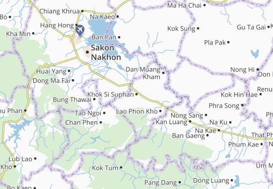 Carte-Plan Khok Si Suphan