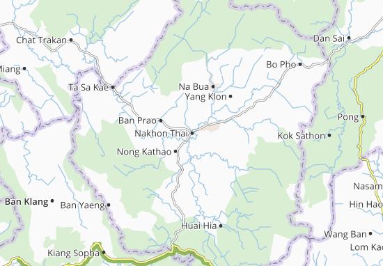 Kaart Plattegrond Nakhon Thai