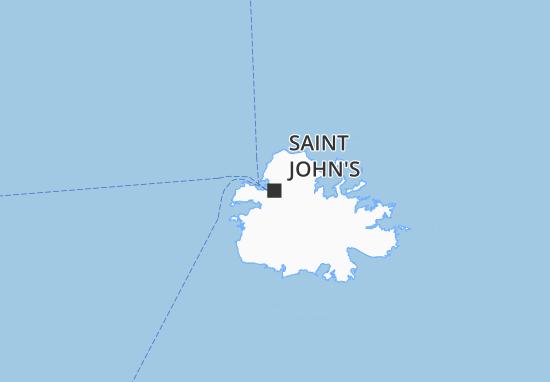 Mapa Plano Saint John's