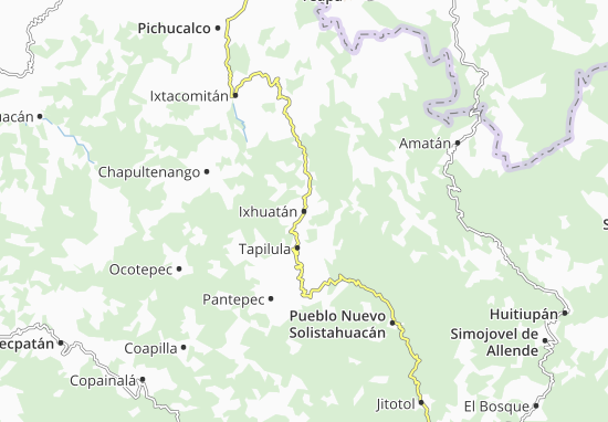 Carte-Plan Ixhuatán