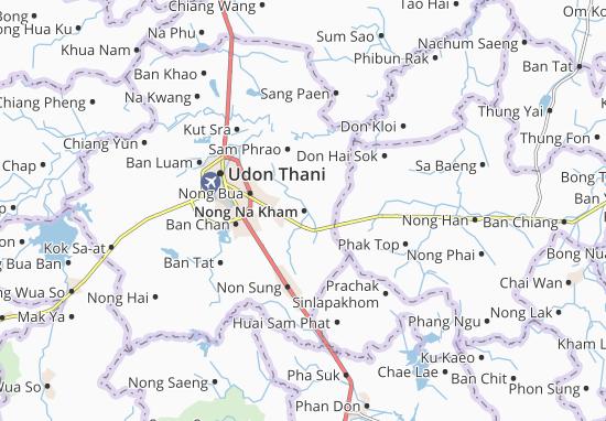 Map of Nong Na Kham - Michelin Nong Na Kham map - ViaMichelin Ku Map on
