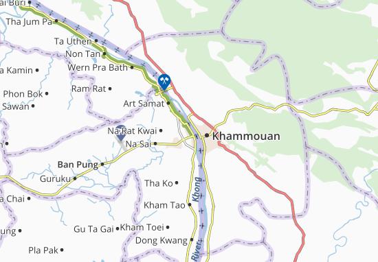 Kaart Plattegrond Nakhon Phanom