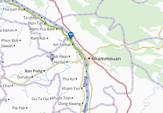 Mappe-Piantine Nakhon Phanom