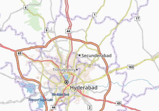 Kaart Plattegrond Secunderabad