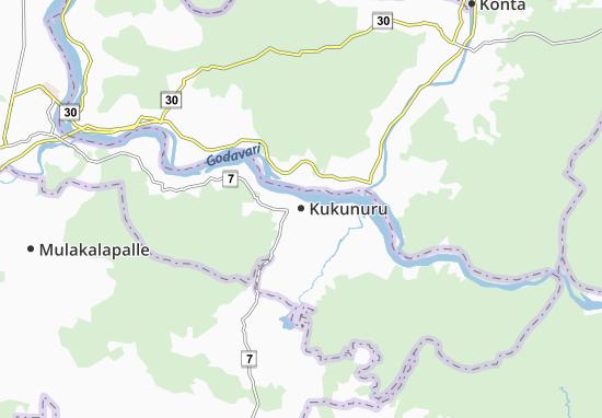 Kukunuru Map