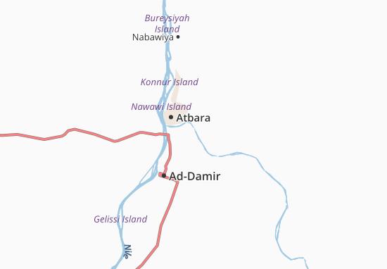 Carte-Plan Umm-Agaga