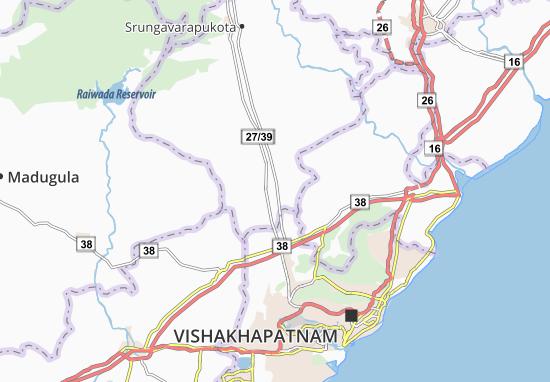 Kaart Plattegrond Kottavalasa