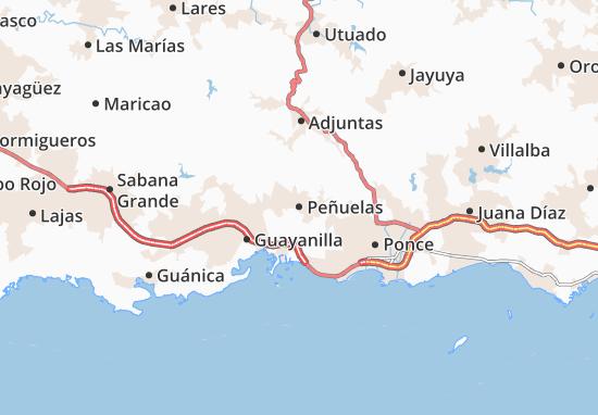 Peñuelas Map