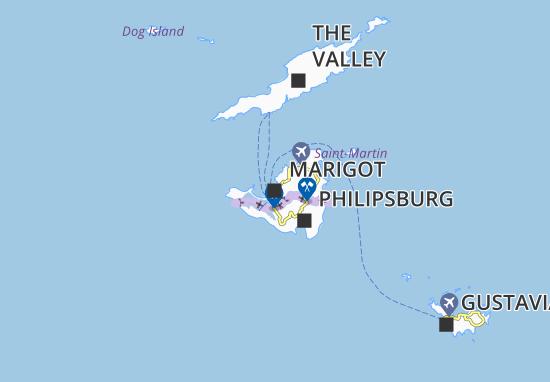 Kaart Plattegrond Marigot