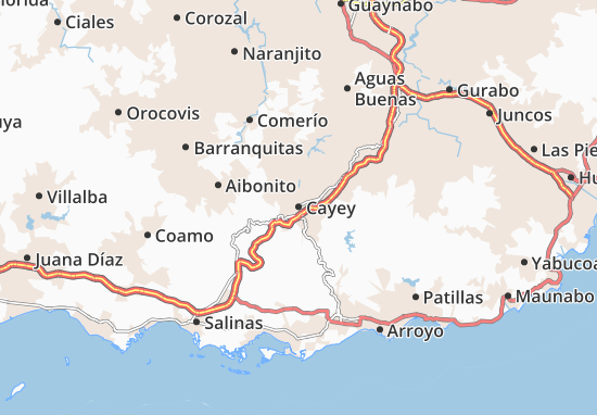 Cayey Map
