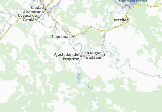 Carte-Plan Ajuchitlán del Progreso