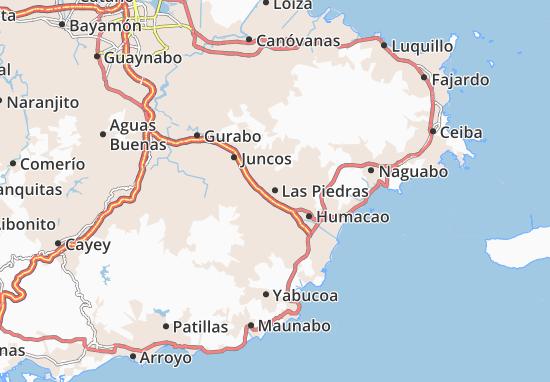 Las Piedras Map