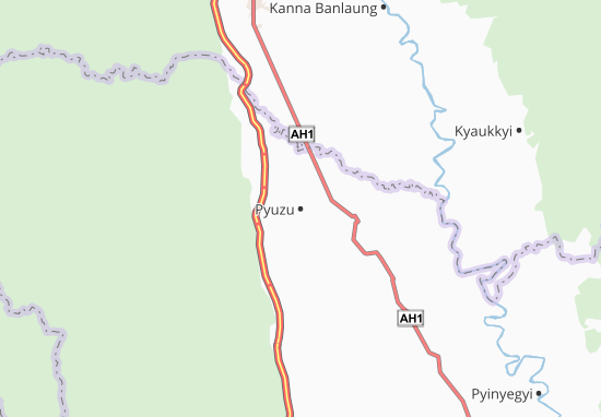 Kaart Plattegrond Pyuzu
