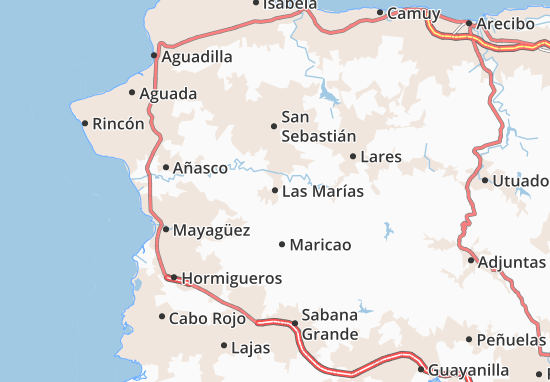 Las Marías Map