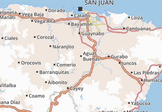 Aguas Buenas Map