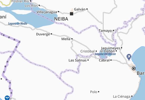 Kaart Plattegrond Angostura