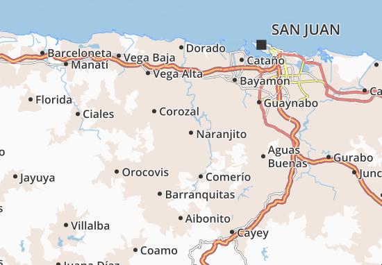 Naranjito Map