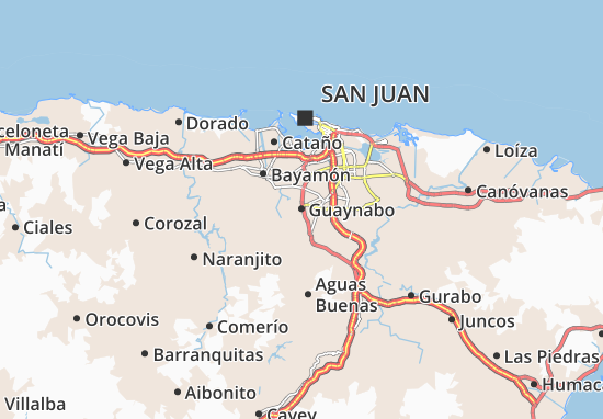 Guaynabo Map Detailed Maps For The City Of Guaynabo ViaMichelin - Guaynabo map
