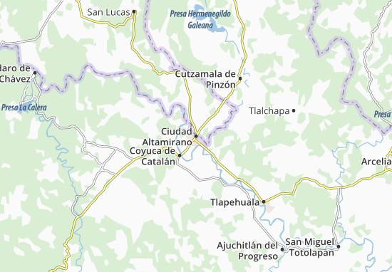 Ciudad Altamirano Map Detailed Maps For The City Of Ciudad Altamirano Viamichelin