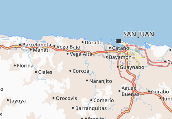 Toa Alta Map
