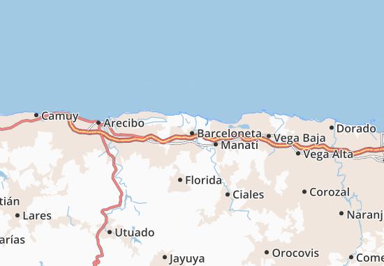 Barceloneta Map
