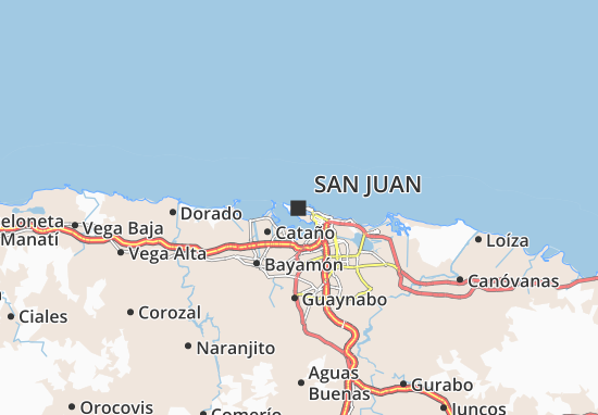 Map of San Juan Michelin San Juan map ViaMichelin – San Juan Tourist Attractions Map