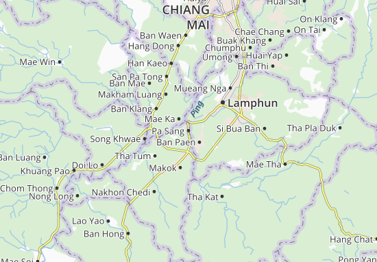 Map of Pa Sang Michelin Pa Sang map ViaMichelin – Tourist Attractions Map In Pa