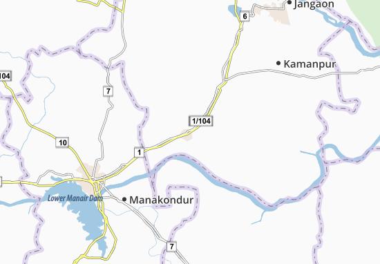 Carte-Plan Osmannagar