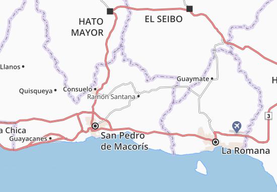 Ramón Santana Map