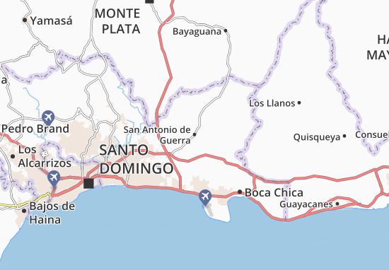 San Antonio de Guerra Map
