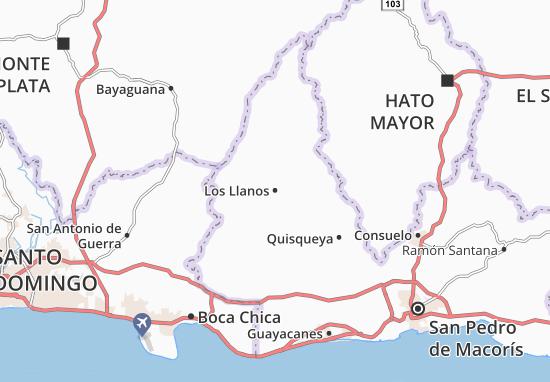 Los Llanos Map