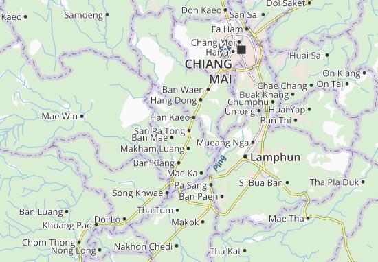 San Pa Tong Map