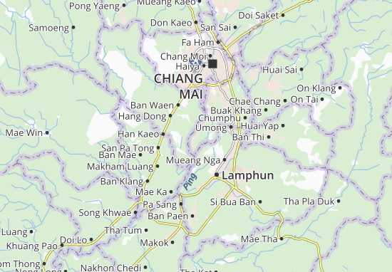 San Sai Map