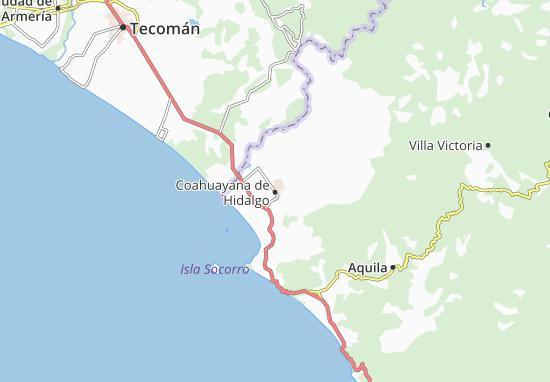 Carte-Plan Coahuayana de Hidalgo