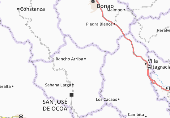 Kaart Plattegrond Rancho Arriba