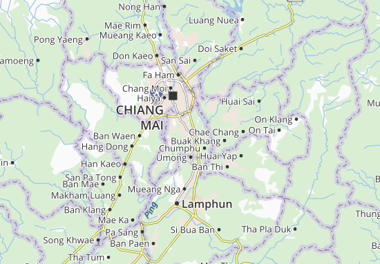 Mueang Saraphi Map