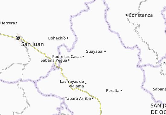 Kaart Plattegrond Padre las Casas