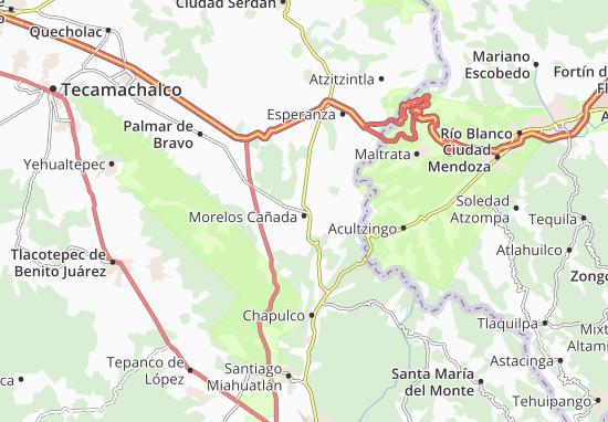Carte-Plan Morelos Cañada