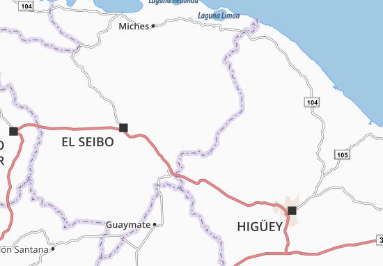 Karte Stadtplan Sabana del Cuey