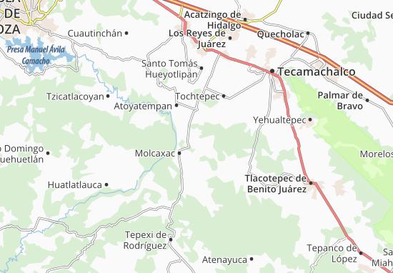 Carte-Plan Santa Clara Huitziltepec