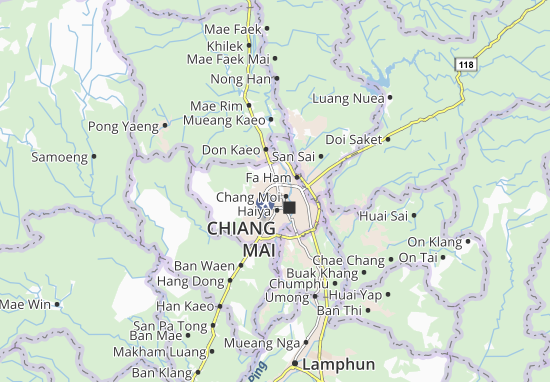 Chiang Mai Hotels Map on