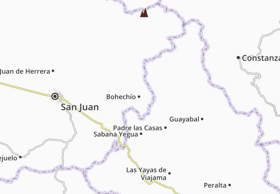 Kaart Plattegrond Bohechío