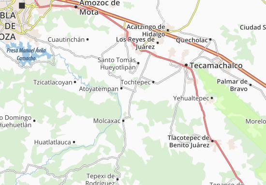 Carte-Plan Tepeyahualco de Cuauhtémoc