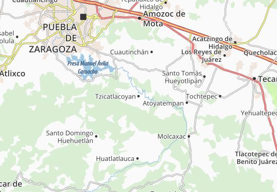 Carte-Plan Tzicatlacoyan
